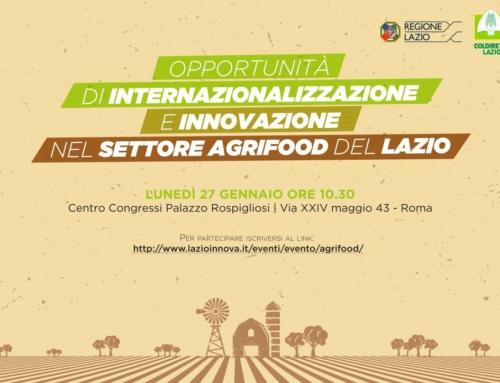 Opportunità di internazionalizzazione e innovazione del settore AgriFood del Lazio